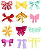 Set of cute bows Stock Photo