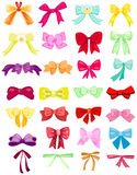 Set of cute bows Royalty Free Stock Images