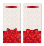 Set of cute cards with gift bows Royalty Free Stock Photo