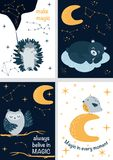 Set of cards with magic part 1 - vector illustration, eps vector illustration