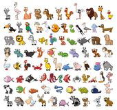 Set of cute cartoon animals, vector Royalty Free Stock Photos