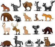 Set of 20 cute cartoon animals,vector Royalty Free Stock Image