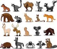 Set of 20 cute cartoon animals,vector Royalty Free Stock Image