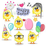 Set of Cute Cartoon Chicken Stock Images
