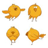 Set of cute cartoon chickens, for print, game, web royalty free illustration