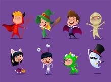 Set of cute cartoon children stock illustration