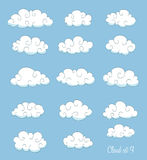Set of cute cartoon clouds Royalty Free Stock Photo