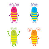 Set of cute cartoon cockroach Royalty Free Stock Photos