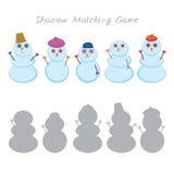 Set of cute cartoon funny snowman Stock Image