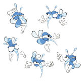 Set of cute cartoon insects Royalty Free Stock Images