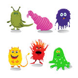 A set of cute cartoon monsters Royalty Free Stock Photography