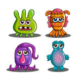 Set of cute cartoon monsters-2 Stock Images