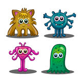 Set of cute cartoon monsters Royalty Free Stock Photos