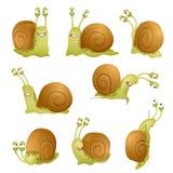 Set of cute cartoon snails. vector Stock Photography