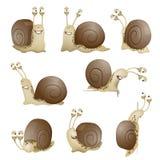 Set of cute cartoon snails. vector Stock Photos