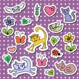Set of cute cartoon stickers. A set of cute cartoon stickers Stock Photo