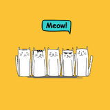 Set of cute cat doodle. Vector illustration EPS 10 Royalty Free Stock Photo