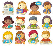 Set Of Cute Characters For Web Menu Stock Photo