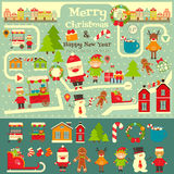 Set of Cute Christmas character Royalty Free Stock Images