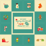 Set of Cute Christmas character Royalty Free Stock Photography