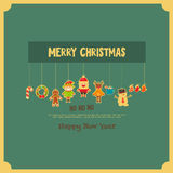 Set of Cute Christmas character Stock Photo