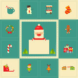 Set of Cute Christmas character Stock Images
