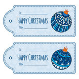 Set of cute christmas gift tags, Stock Photos
