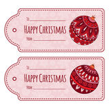 Set of cute christmas gift tags, Stock Photography