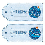 Set of cute christmas gift tags, Stock Photo