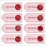 Set of cute christmas gift tags, Royalty Free Stock Photos