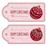 Set of cute christmas gift tags, Stock Image
