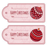 Set of cute christmas gift tags, Royalty Free Stock Image