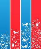 Set of Cute Christmas Holiday Banners or Bookmarks Stock Images