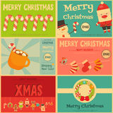 Set of Cute Christmas Mini Posters Stock Photography