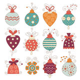 Set of cute chritmas decoration Stock Photo