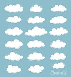 Set of cute clouds Stock Images