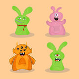 Set of cute colorful monsters. Royalty Free Stock Image