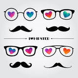 Set of cute compositions for Valentine Day Stock Photo