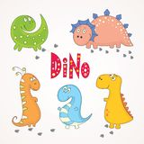 Set of cute dinosaurs Royalty Free Stock Photography