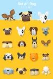 Set of cute dog icons Royalty Free Stock Image