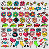 Set of cute doodle elements Stock Images