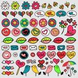 Set of cute doodle elements Stock Images