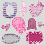 Set of Cute Doodle Frames Stock Photo