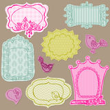 Set of Cute Doodle Frames Stock Images