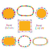 Set of cute doodle frames Royalty Free Stock Photos