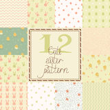 Set of cute easter seamless patterns Stock Image