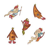 Set of cute fairytale characters Royalty Free Stock Photo
