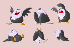 Set of cute fat vampires Royalty Free Stock Photography