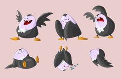Set of cute fat vampires stock illustration