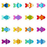 Set of cute fishes,  illustration. Collection of cute fishes,  illustration Royalty Free Stock Photo